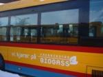 En av biogassbussene i Fredrikstad
