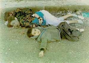 barn  drept av gass i Halabja