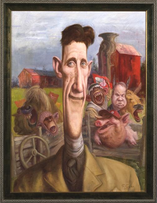 analyzing george orwells satire animal farm Animal farm by george orwell  animal farm symbolism, imagery, allegory   the sit-down mealabout halfway through, animal farm takes a dark turn.