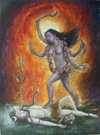 Hinduismen aksepterer bruk av vold. Gudinna Kali er f.eks. flink til å drepe demoner.