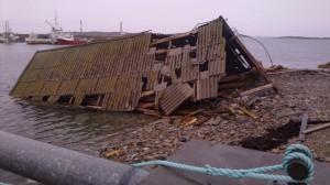 Virkninger av stormen Dagmar; fanget av NRKs Linda Bjørgan