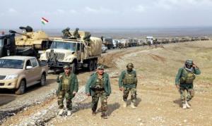 I Irak er kurdiske styrker like godt utstyrt som regjeringshæren.