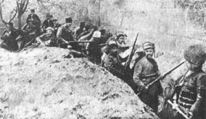 Armenske styrker ved byen Van, 1915.