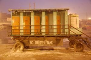 Slike toalettter produseres biogass og gjødsel.