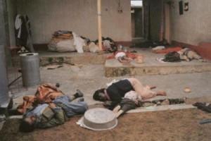 Etter gassangreoet i Halabja, 1988.