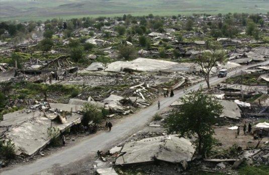 Tilbake til steinalderen? Den kurdiske byen Qala Diza fikk besøk av Saddam Husseins styrker i 1989.