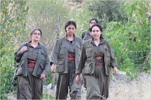 Kvinnelige gerljasoldater fra PKK