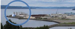 Det prosjekterte biogass-anlegget på Skogn