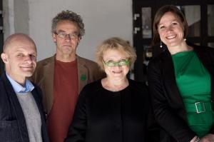 Fire tydelige representater for den grønne bølgen: Harald A Nissen, Rasmus Hansson, Eva Joly og Hanna  Marcussen.