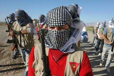 Medlemmer av YPG-militsen.