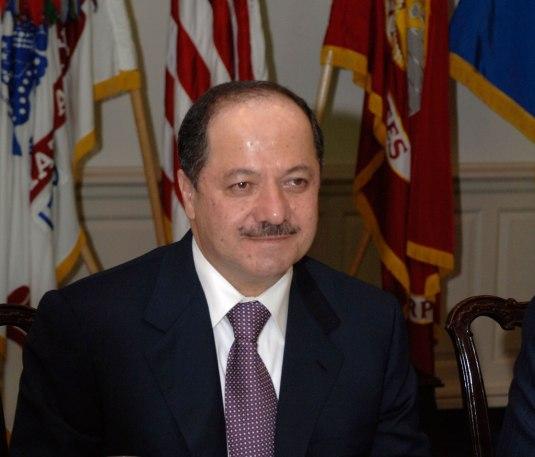 Kurdistans president, Massoud Barzani.