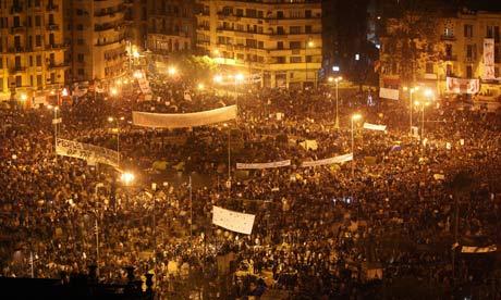 Demonstranter i Kairo