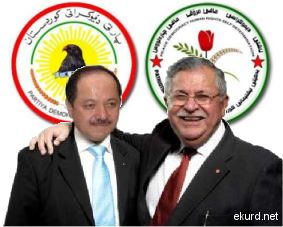 Massoud Barzani (tv) og Jalal Talabani (th) har som rivaler og samarbeidspartnere dominert Sør-Kurdistan i en menneskealder.