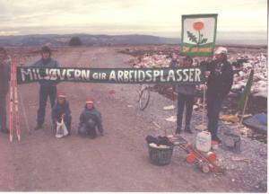Valgkampen i Trondheim i 1991 krevde kildesortering av vafall