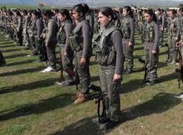 Kvinnelige rekrutterer til YPG