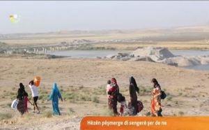 yezidier  på flukt fra Shingal.