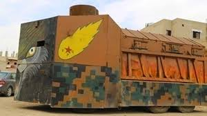 ISIL har moderne panser og kanoner, Forsvaret av Kobane  må improviseres med de materialene  som er tilgjengelige.