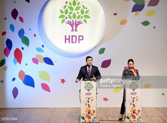 HDPs talspersoner Selahattin Demirtas og Figen Yuksekdag.