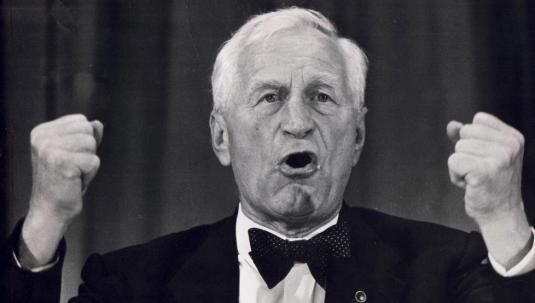 Anders Lange var en effektiv folketaler, av sine mange motstandere gjerne karakterisert som demagog