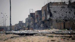 Misrata under angrep fra Gaddaffis styrker.